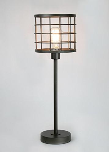 "Grandview Gallery 24.5"" Cast ft. Unique Metal Cage and Visible Edison Modern Lighting"