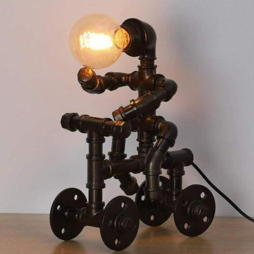 HAITRAL Industrial Table Steam Pipe Lamp