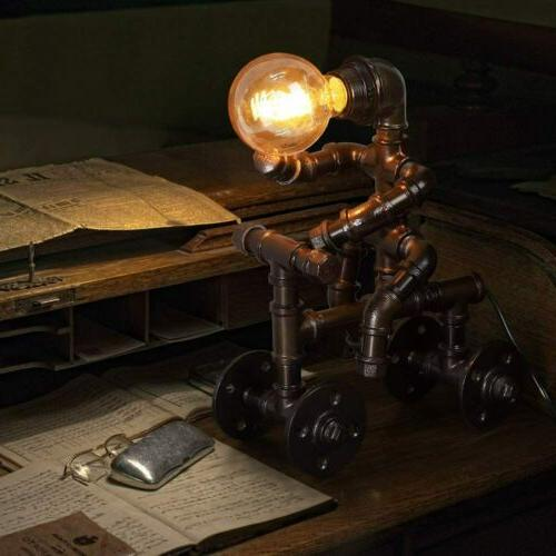 industrial table lamp retro steam punk robot