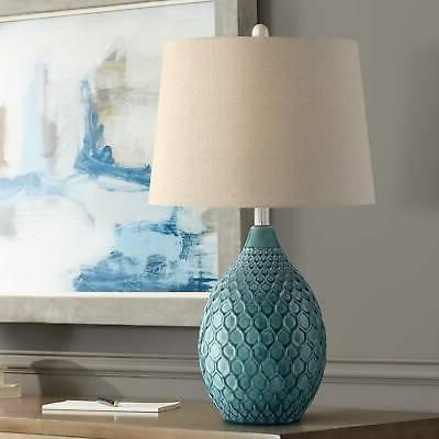 kate green ceramic table lamp by