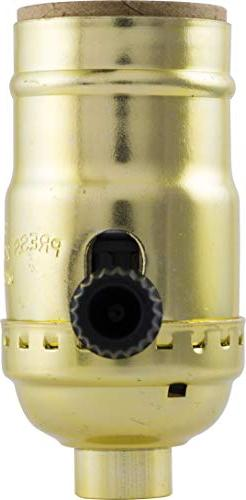 GE 3-Way Lamp Socket, Gold 54372