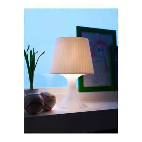 Ikea White Table Lamp Soft Lighting- Includes FREE
