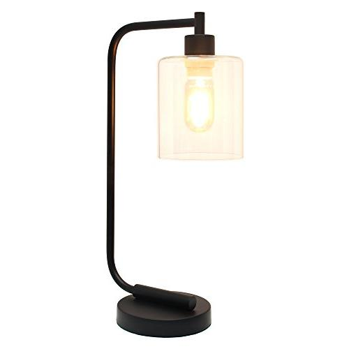Simple Designs LD1036-BLK Industrial Desk Lamp