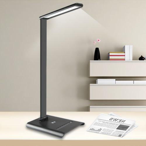 6W Touch Sensor 21 LED Light Dimmable Desk Table Reading Boo