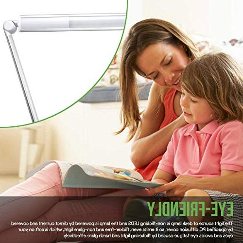 LE Desk Lamp, 7-Level Soft Touch Care High Office Lamp Reading, Computer Work and More