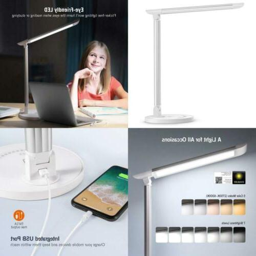 LED Desk Lamp Eye-caring Table Lamps Dimmable Office Lamp To
