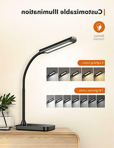 TaoTronics LED TT-DL11 Gooseneck Lamp,5 Color