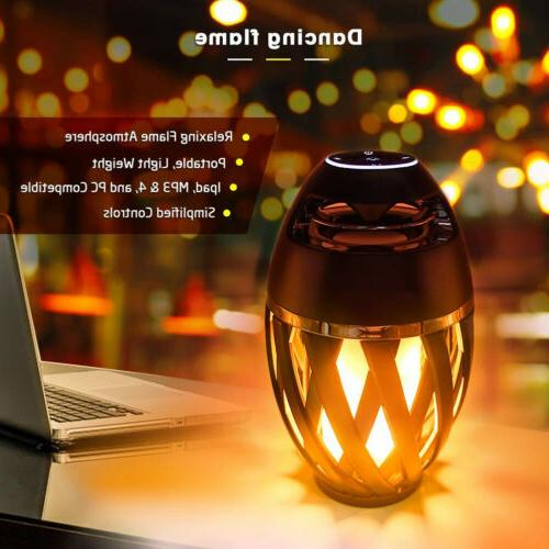 Led flame table lamp Torch Atmosphere Bluetooth Speakers HD