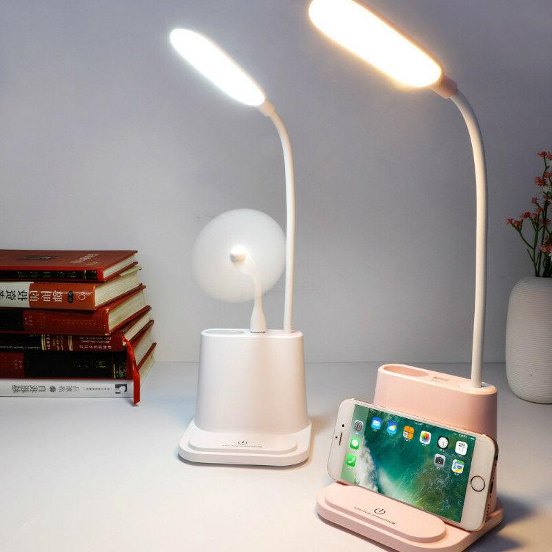 LED Night Table Desk USB Charging Reading