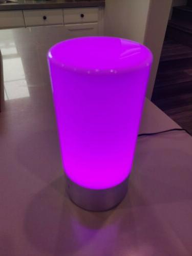 LED Table Lamp Touch Sensor RGB Dimmable Warm Light