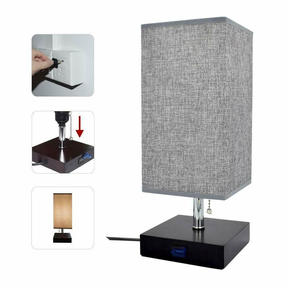USB LED Table Lamp Desk Nightstand for Bedroom