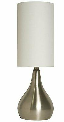Light Accents Touch Table Lamp Modern 18 Inches Tall, 3-stag