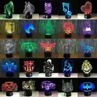 Light lamp for Birthday/festival Gift 7 colorful 3D LED Nigh