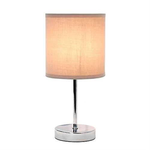 Simple Simple Mini Basic Table Lamp with Fabric Shade, 11.89 x