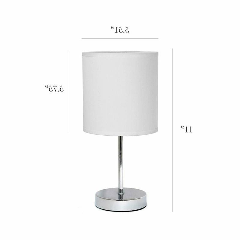 Simple LT2007-WHT Mini Basic Lamp, White
