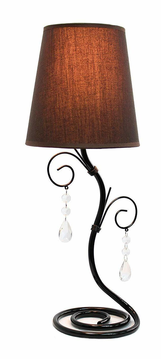 lt2010 bwn twisted vine hanging crystals table