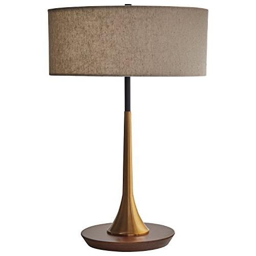 Rivet Curved Table Lamp, and Walnut