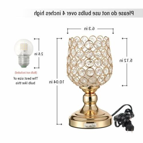 HAITRAL Crystal Light Lamp Metal Frame