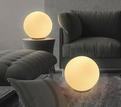 Modern Minimalism Milk Ball Globe Glass Lamp Round Light Tab