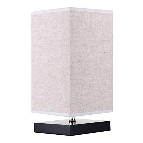 Minerva Minimalist Solid Table Bedside Linen Fabric Shade