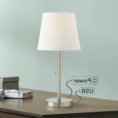 modern accent table lamp with usb outlet