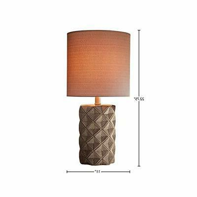 """Rivet Modern Table Lamp with Base, 22.75""""H, Taupe"""