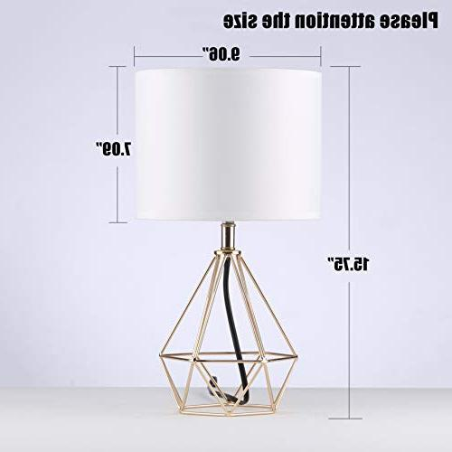 SOTTAE Modern Hollowed Out room Bedroom Lamp, Desk White Fabric