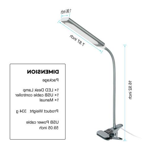 Kootion Modern Style Dimmable USB Clip-On LED Table 5W