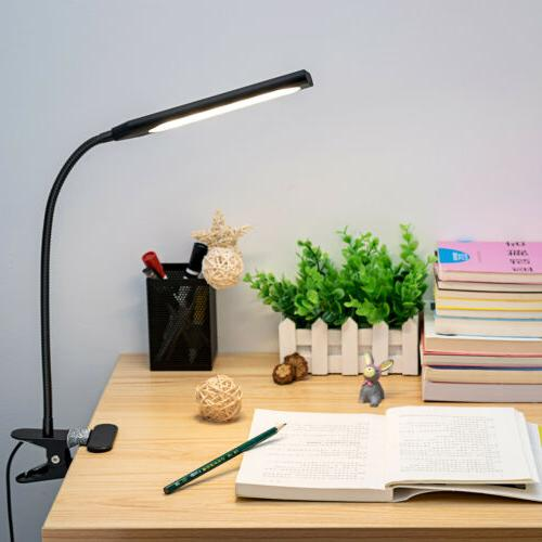 modern style dimmable usb clip on desk