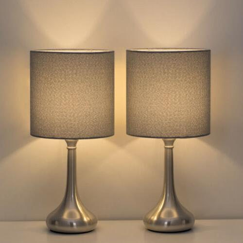 2 pcs table lamp modern desk bedside
