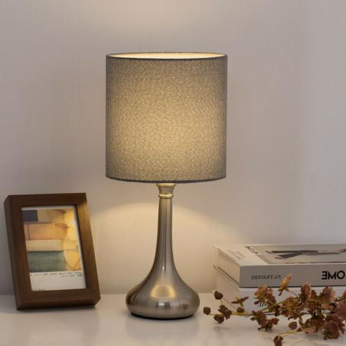 HAITRAL Table Lamp Bedroom Beside Nightstand of 2