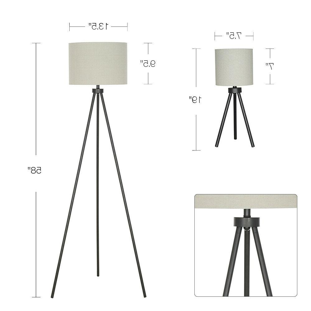 Modern Set Black Lamps Shade Reading