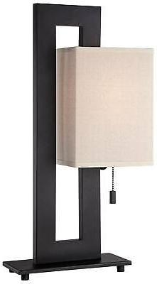 Modern Table Lamp Bronze Rectangular for