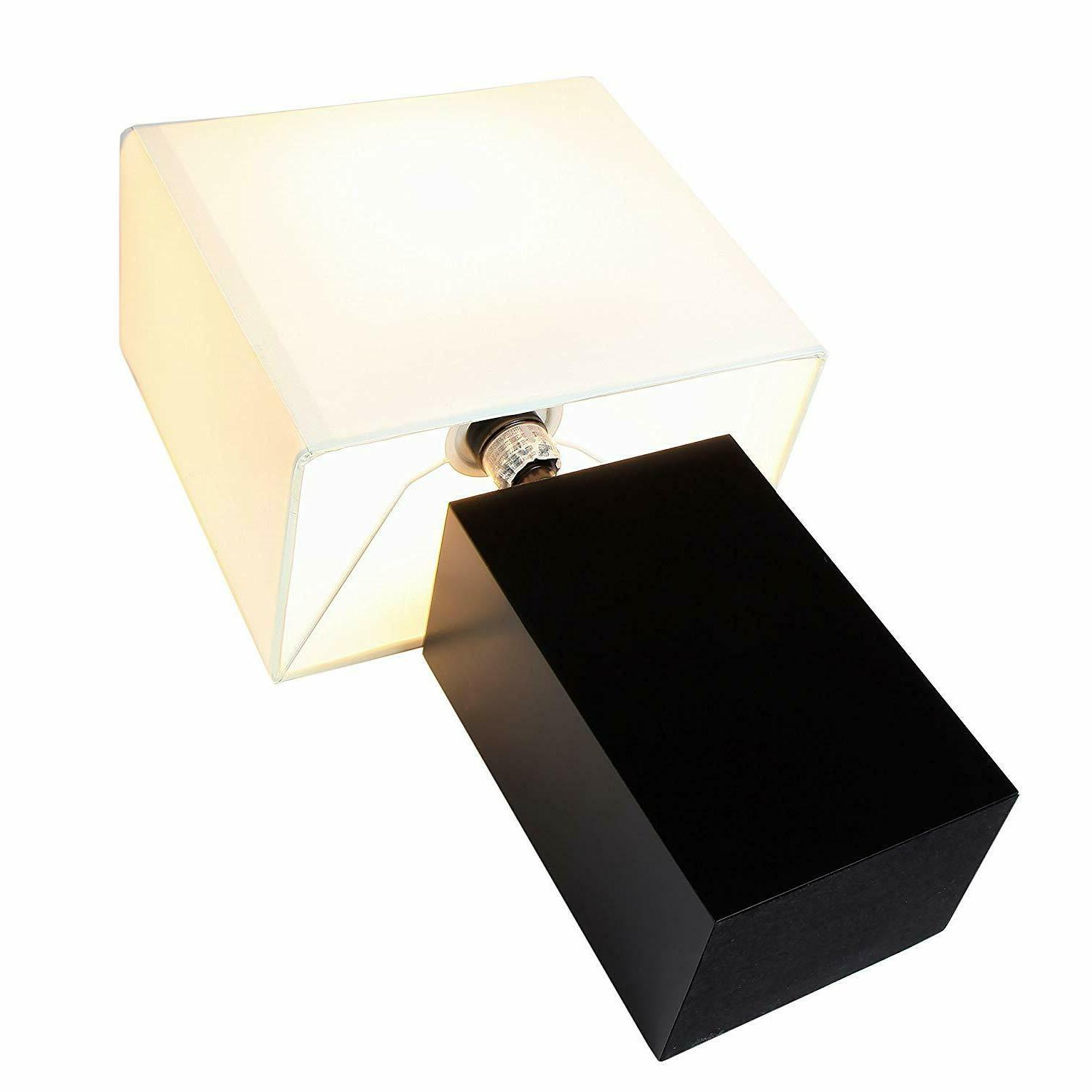 Modern Lamp Nightstand LED Light Wood USB Charging Desk Office Home