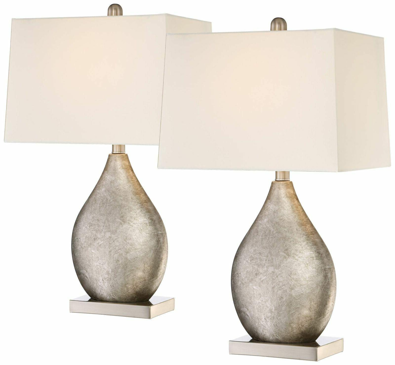 modern table lamps set of 2 silver
