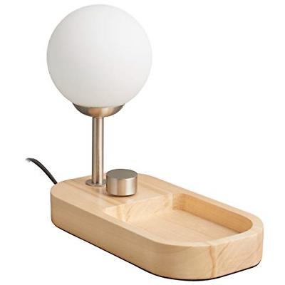 modern tray with usb port table lamp