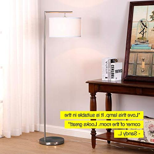 Brightech LED Room Standing with Drum Shade - Tall Downlight Bedrooms, Family Rooms, – with