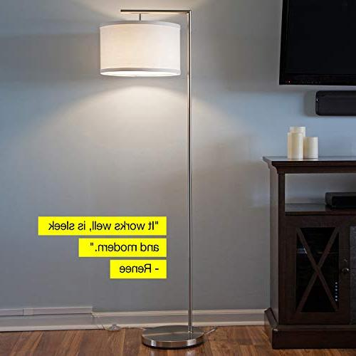 Brightech Montage Floor - Living Room Standing Pole Light with Hanging - Bedrooms, Family – with -