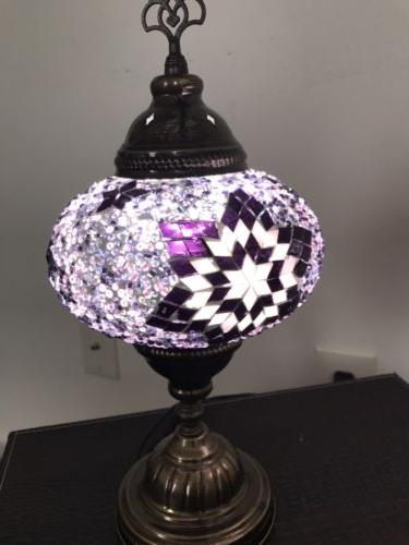 Handmade Mosaic Glass table lamp with LED BULB New LARGE GLO