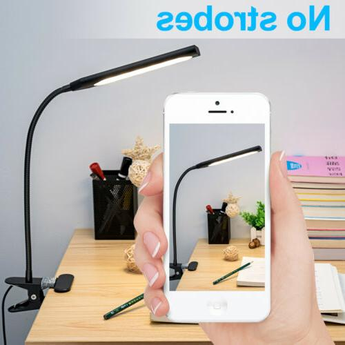 Dimmable Flexible USB Clip-On Desk Lamp 48 Led Table Reading