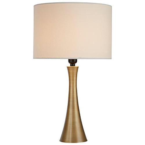 needle curved brass table lamp