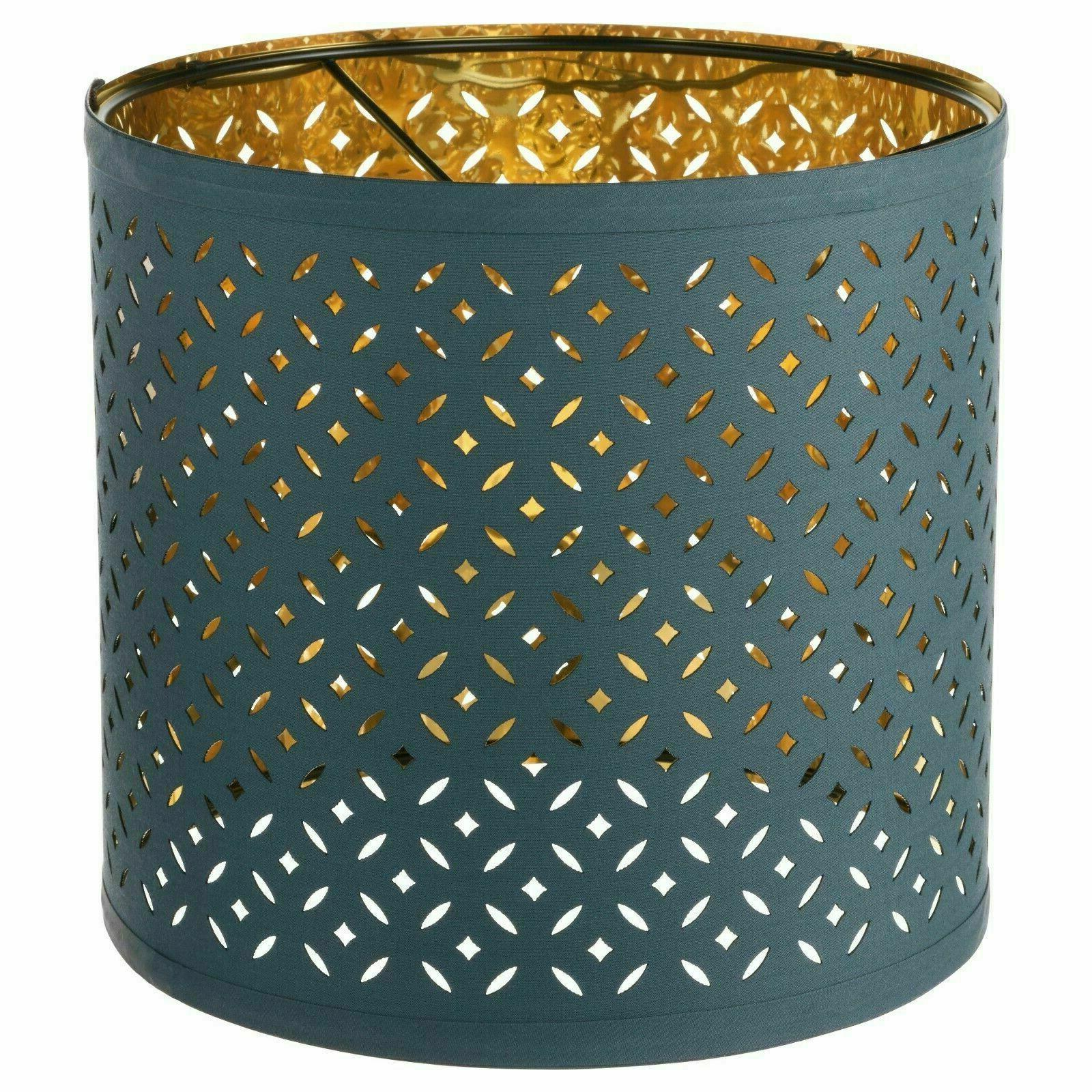 new nymo table lamp perforated shade blue
