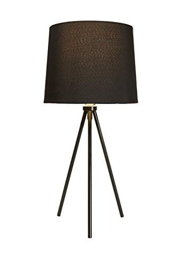 Newhouse NHDK-AL-BK Alexandria Tripod Table Lamp, Black