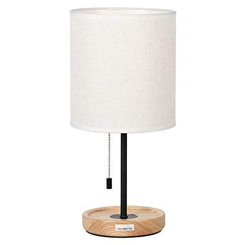 HAITRAL Stand Lamps Lamps Linen Shade Wooden Room, Office, Dorm, Dinning