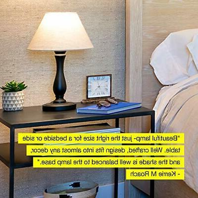 Brightech Bedside Table Lamp: Black Woo