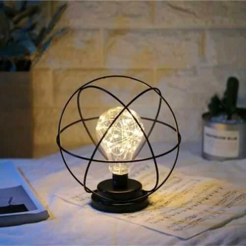 Nordic Table Lamp Black Iron Copper New