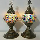 PAIR OF TURKISH MOSAIC TABLE LAMPS
