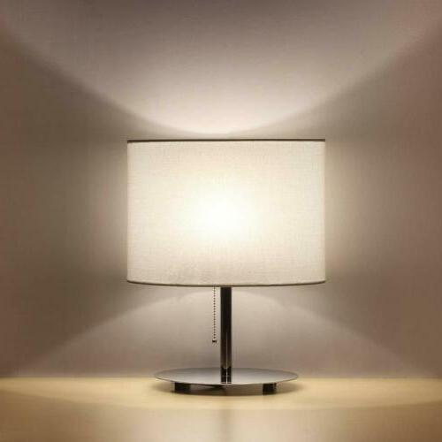 modern table desk lamp fabric shade metal