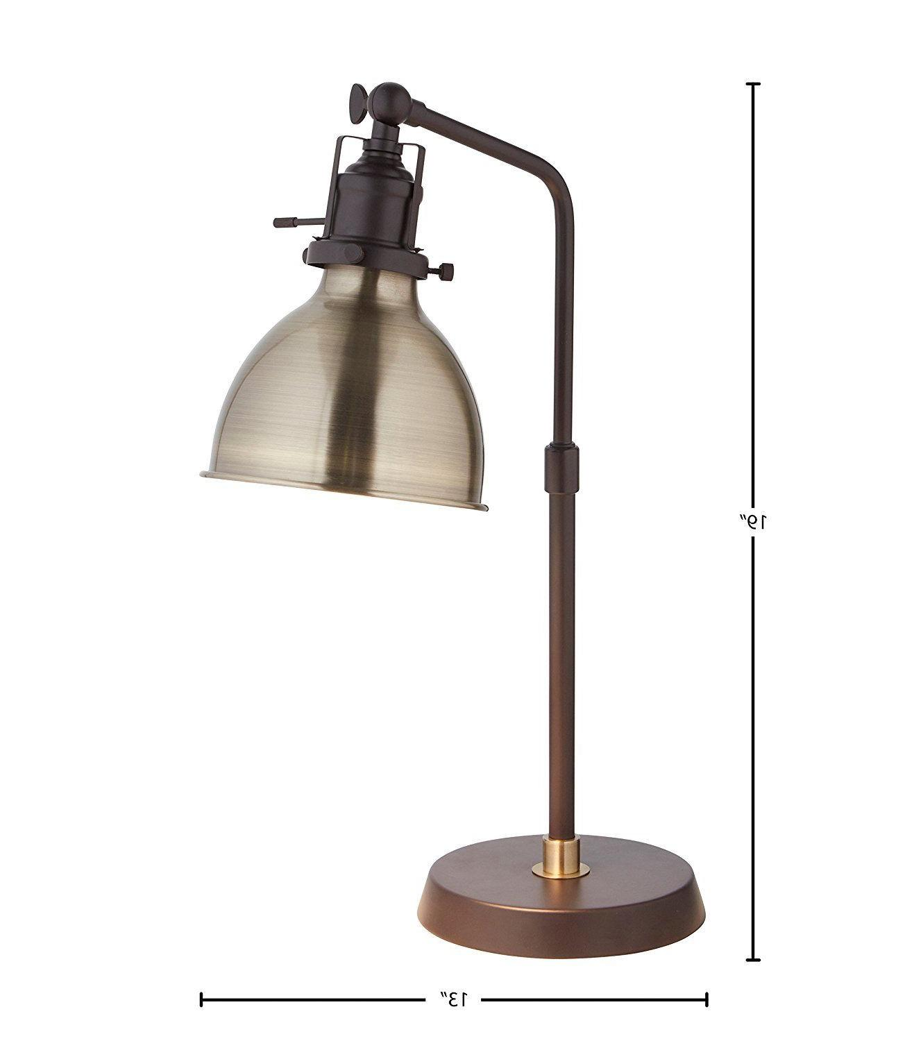 "Rivet Pike Industrial Table 19""H, With Bulb, Shade"