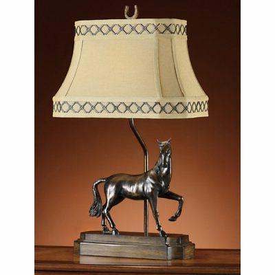 prancing horse table lamp